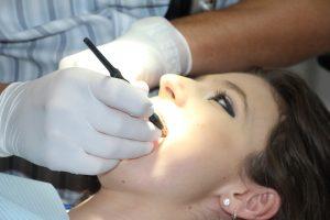 Patient receiving a root canal procedure.